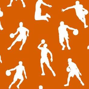 Basketball Players on Dark Orange // Large