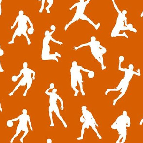 Basketball Players on Dark Orange // Small