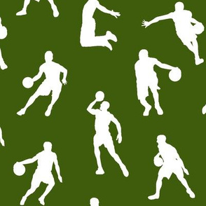 Basketball Players on Green // Large