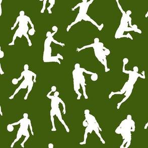 Basketball Players on Green // Small