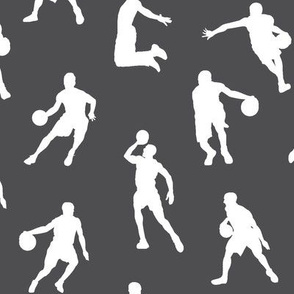 Basketball Players on Charcoal // Large