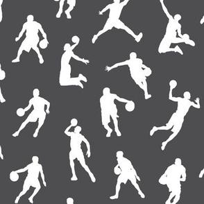 Basketball Players on Charcoal // Small