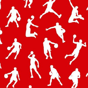 Basketball Players on Red // Small