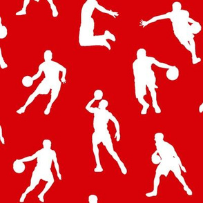 Basketball Players on Red // Large