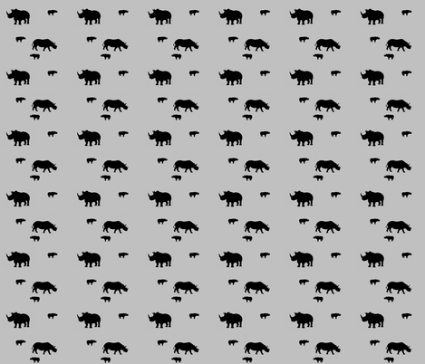 Black Rhino fabric by crotte on Spoonflower - custom fabric