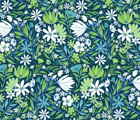 Fresh Garden  fabric by jill_o_connor on Spoonflower - custom fabric