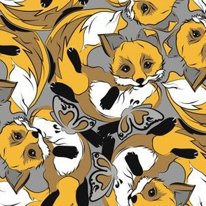 yellow foxes