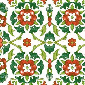 garland of  Flowers (green)