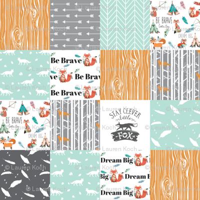be brave little fox cheater quilt