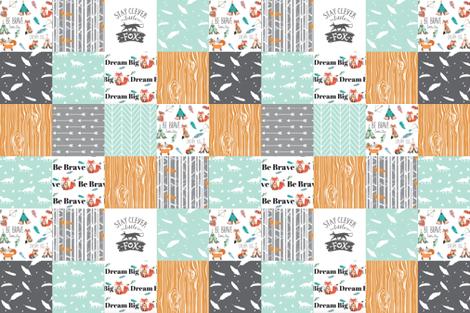 be brave little fox cheater quilt  fabric by buckwoodsdesignco on Spoonflower - custom fabric