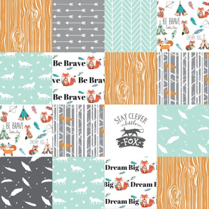 be brave little fox cheater quilt