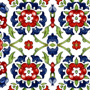 Garland of Flowers (blue)