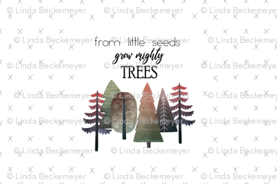 """18X27"""" RED From Little Seed Grow Mighty Trees - MINKY SIZE"""