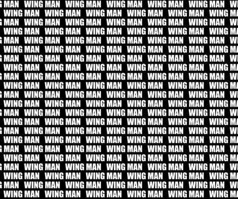 WING MAN-smaller fabric by la_bricoleuse on Spoonflower - custom fabric