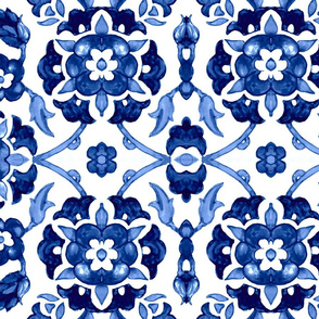 Garland of flowers (blue)
