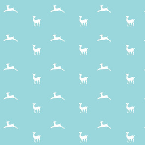 Deer 2 - MED58 mint white