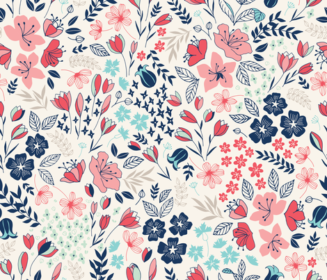 Spring Meadow fabric by ldpapers on Spoonflower - custom fabric