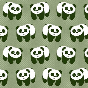 pandas on green