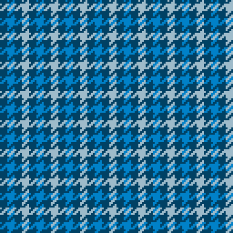 Scotch Houndstooth in Blue Thistle fabric by gigi&mae on Spoonflower - custom fabric