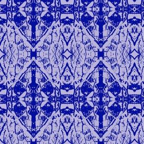 Saplings  (Blue on Lavender)