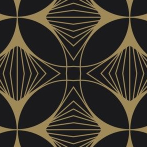 Floral Cross Gold on Charcoal