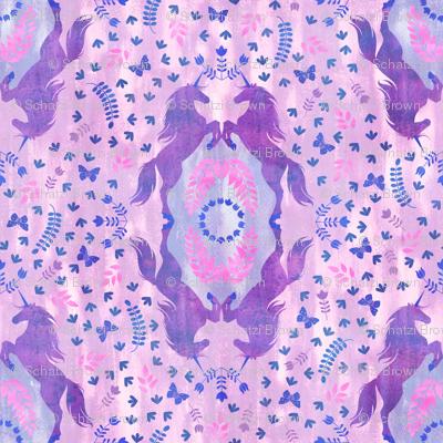 Unicorn Damask light purple