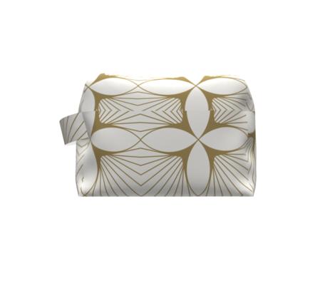 Floral Diamond Gold on White