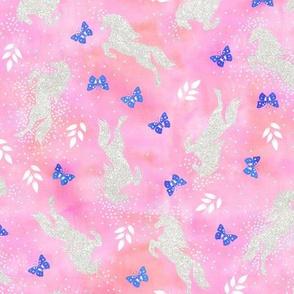 Unicorn toss bright pink
