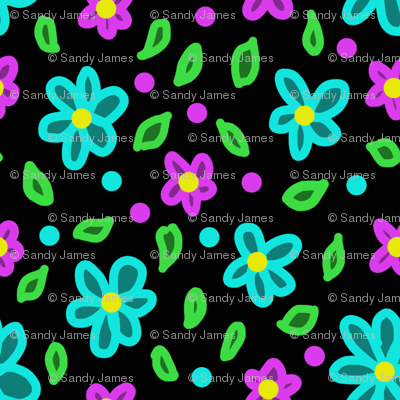 neon floral 2