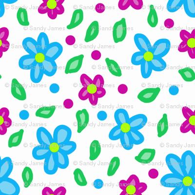 neon floral 3