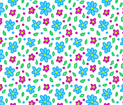 neon floral 3 fabric by leroyj on Spoonflower - custom fabric