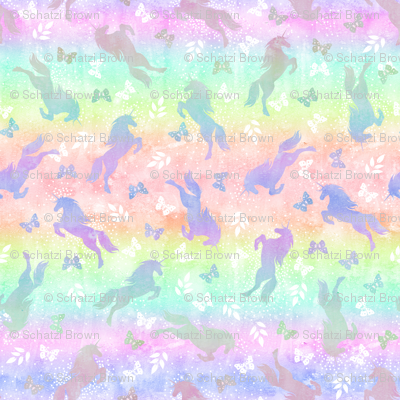 Unicorn toss rainbow ombre