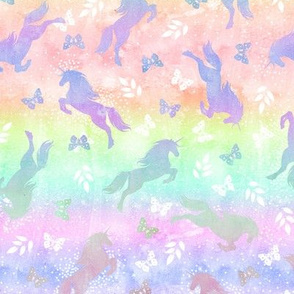 Unicorn toss rainbow ombre