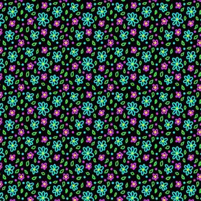 neon floral 1 4x4