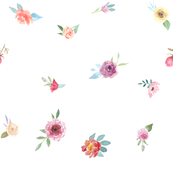 French Country Floral-Watercolor Flowers