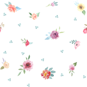 French Country Floral-Flowers and Dots