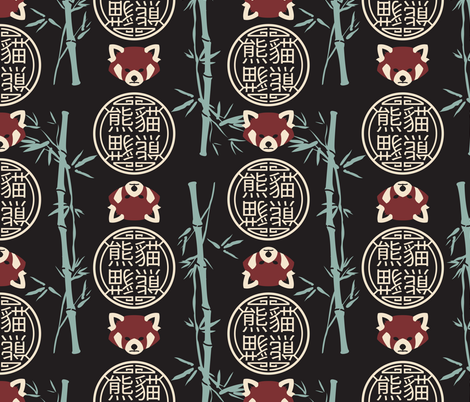 Red Panda fabric by designs_by_miss_mandee on Spoonflower - custom fabric