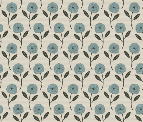 Farmhouse Blooms (Blue) fabric by brendazapotosky on Spoonflower - custom fabric