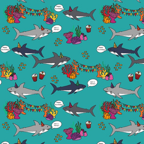 Shark Birthday Party in Turquoise