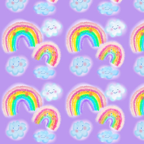 Happy little Rainbows and clouds