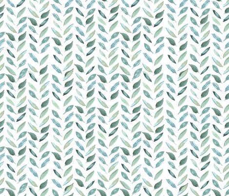 Medium Leaf Herringbone fabric by taylor_bates_creative on Spoonflower - custom fabric
