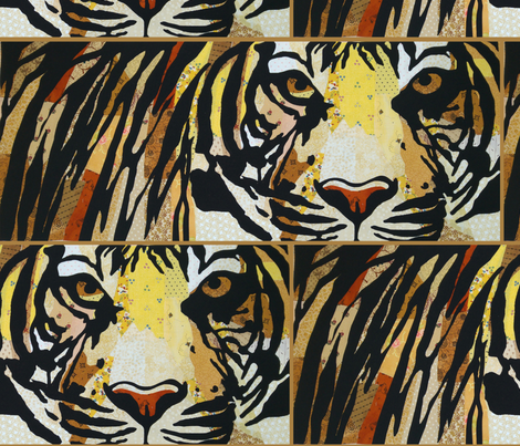 Endangered Tiger fabric by linsart on Spoonflower - custom fabric