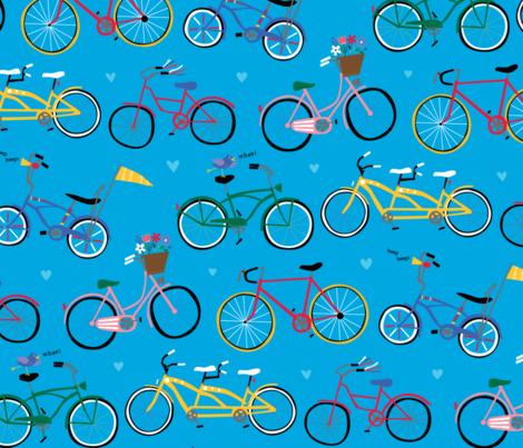 Bike Ride fabric by designs_by_lisa_k on Spoonflower - custom fabric
