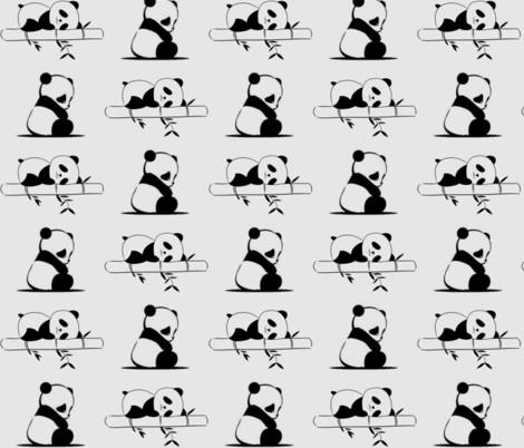 Snoozy panda fabric by fabricsoftime on Spoonflower - custom fabric