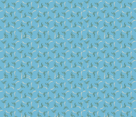 blue palm fabric by gardenia_bush on Spoonflower - custom fabric
