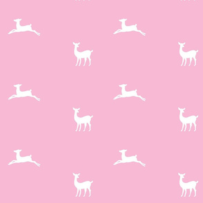 Deer 2 -bubblegum pink  white