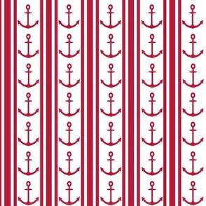 Anchor Stripe Red White