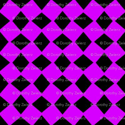 Wonky Neon Purple Harlequin