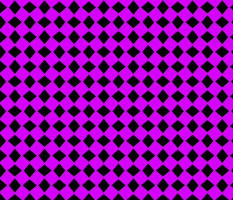 Wonky Neon Purple Harlequin fabric by pixelstitchstudio on Spoonflower - custom fabric