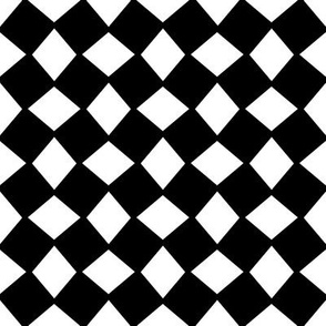 Wonky Black and White Harlequin